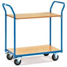 Chariot à 2 plateaux bois