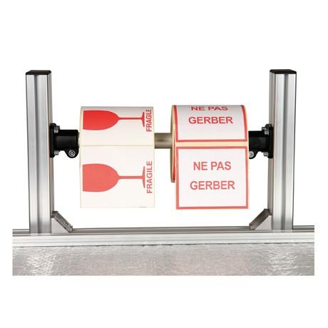 Porte rouleaux étiquettes