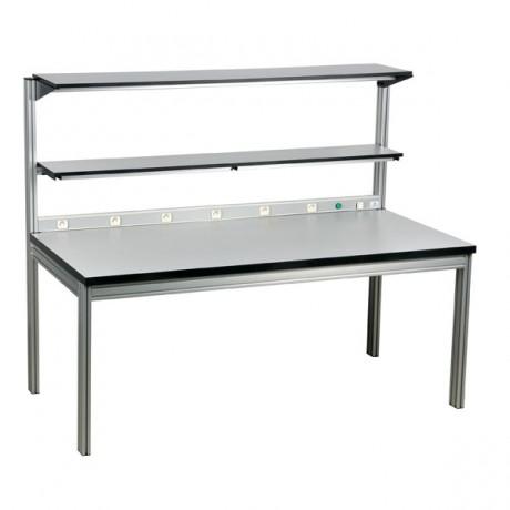 Tables avec rampe électrique et étagère double réglable