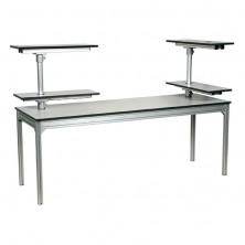 Table avec étagères rotatives