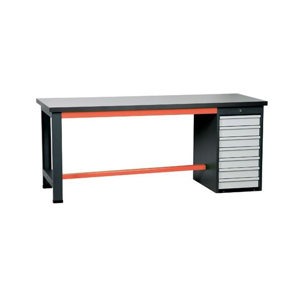 etabli avec rangement 7 tiroirs. Black Bedroom Furniture Sets. Home Design Ideas