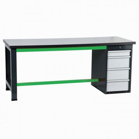 Etabli d'atelier avec coffre 4 tiroirs