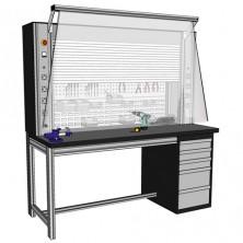 Etabli porte outils électrifié à fermeture électrique