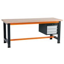 Etablis gris et orange avec coffre 3 tiroirs