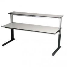 Tables assis debout simple face avec étagère