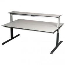 Tables assis debout double face avec étagère