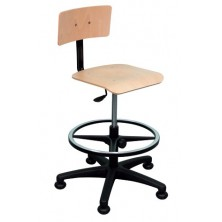 Chaise avec dossier et assise hêtre