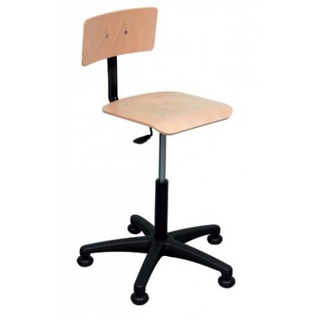 Chaise d'atelier - dossier et assise hêtre